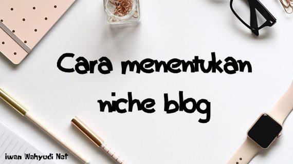Cara Menentukan Niche Blog